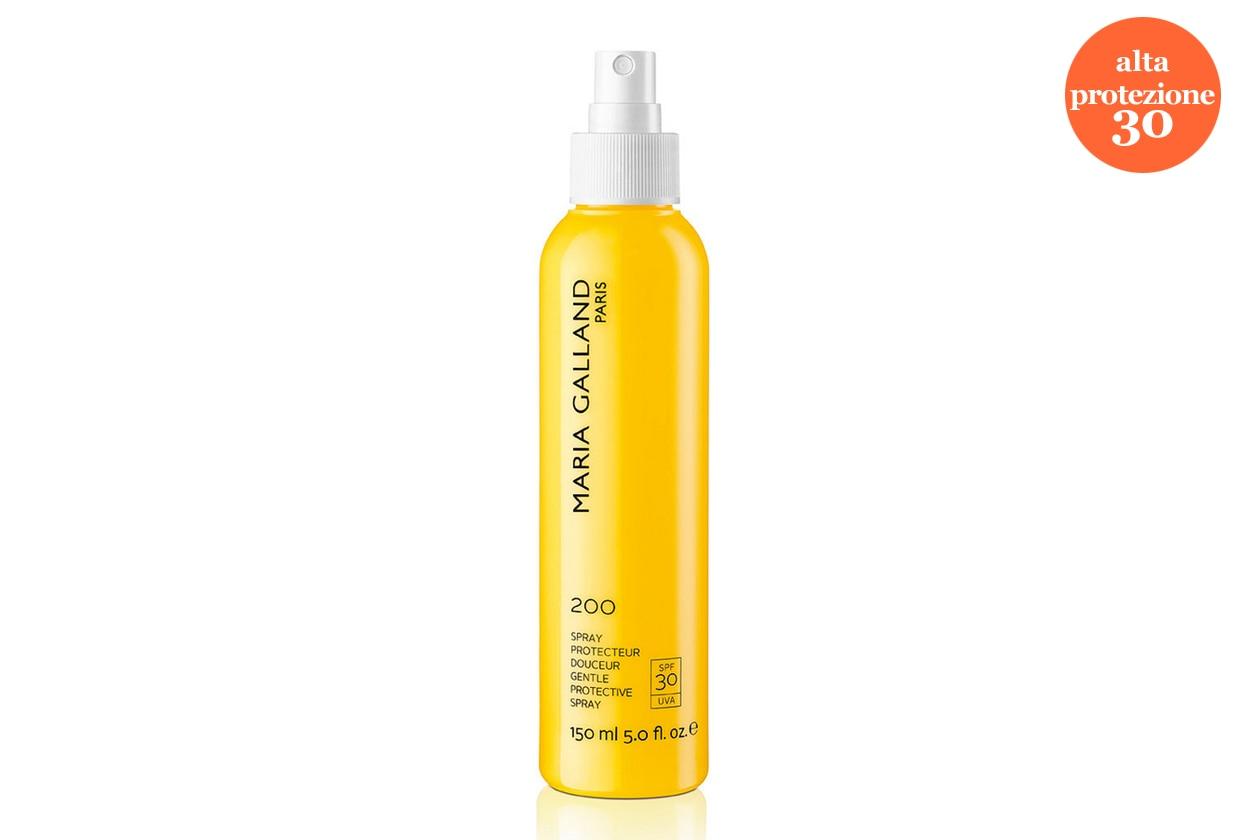 Una soluzione non untuosa per il viso è proposta da Maria Galland: è lo Spray Protecteur Douceur 200