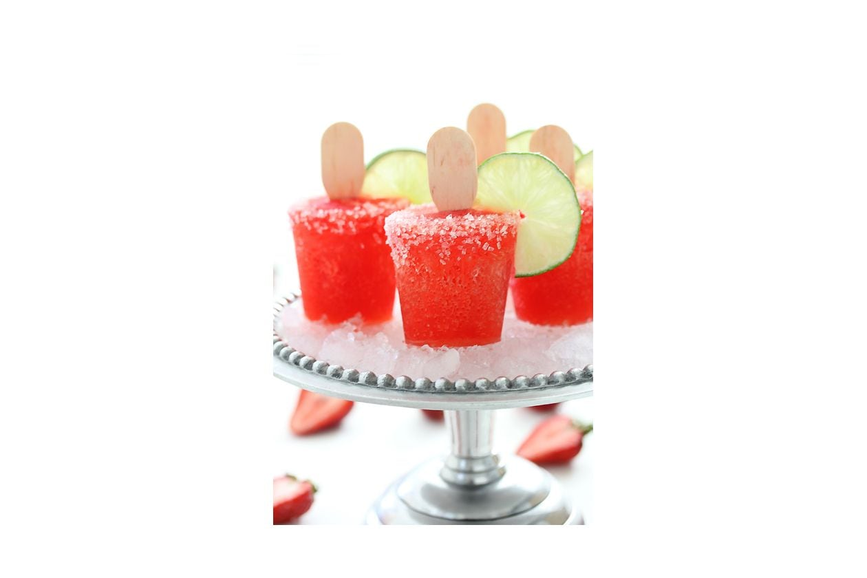 10 Strawberry Margarita Popsicles Bakers Royale1