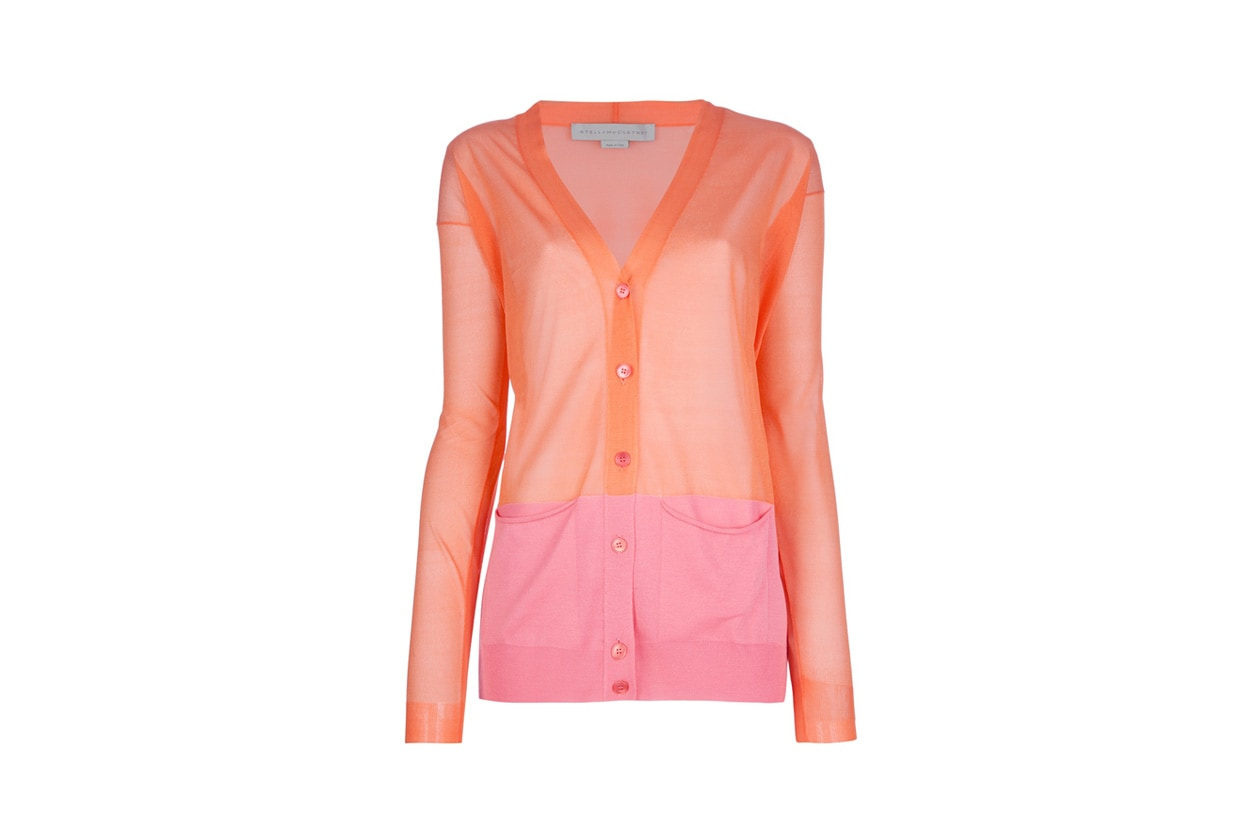 cardigan bicolore stella mccartney