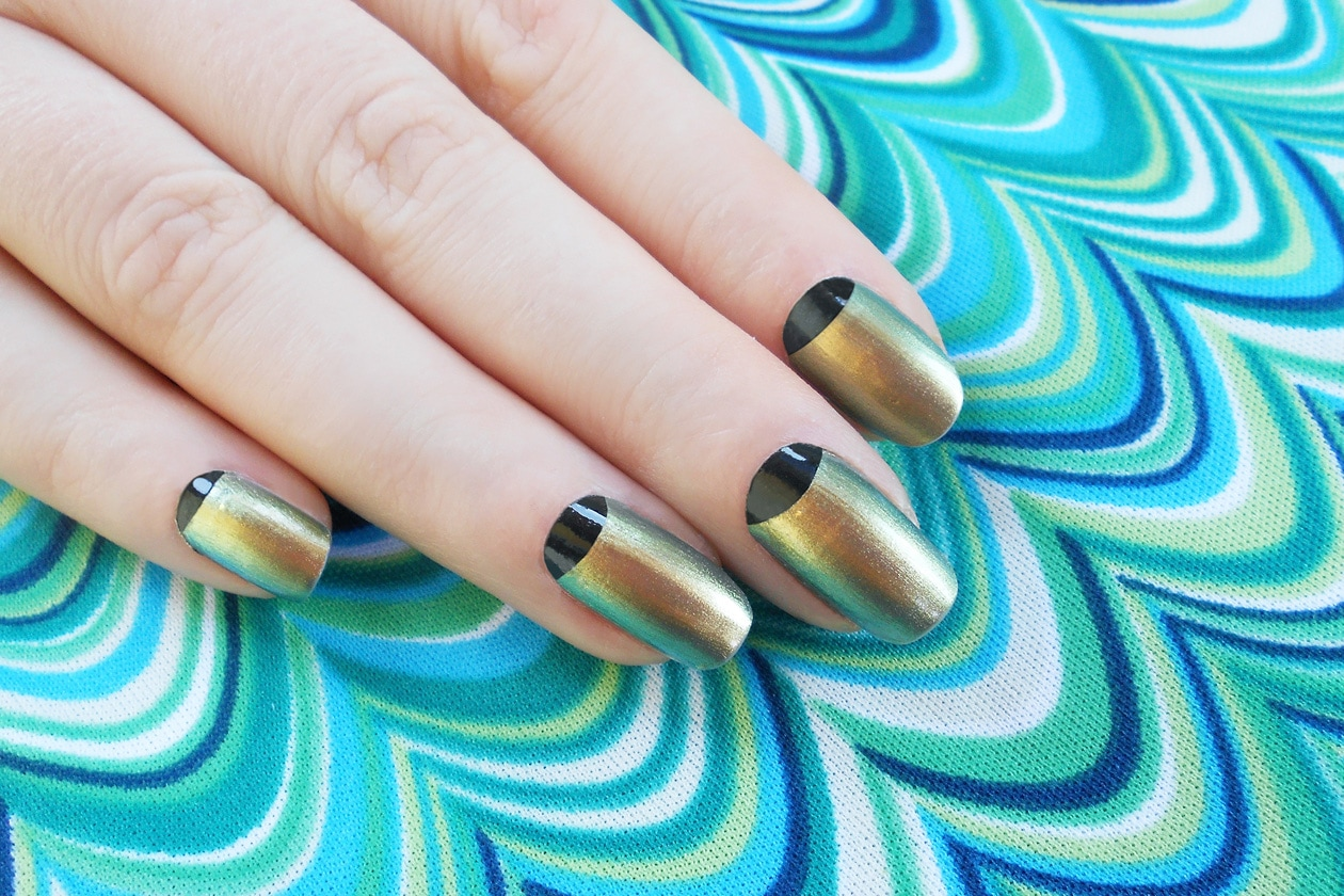 03 MetalGroove nailart