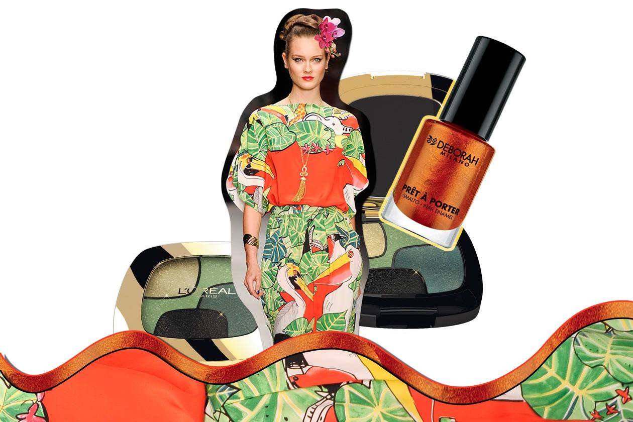 FANTASIE TROPICALI: un trionfo di colori lussureggianti ( Issa London – L'Oréal Paris – Deborah Milano)