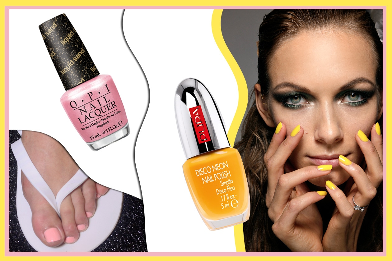 GIRLY NAILS: rosa e giallo insieme per un finish girly (Aquascutum – Diane Von Furstenberg – Pupa – OPI)