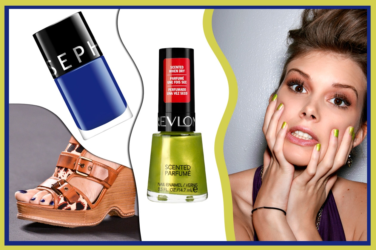 IT ROCKS!: per un look dall'anima rock il blu abbinato al verde acido (Sephora – Revlon – Anna Sui – Toni Maticevski)