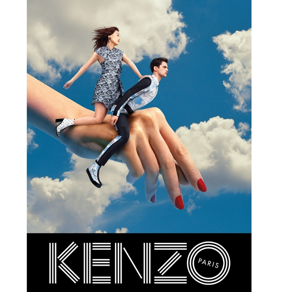 KENZO FW13 Campaign flying hand single