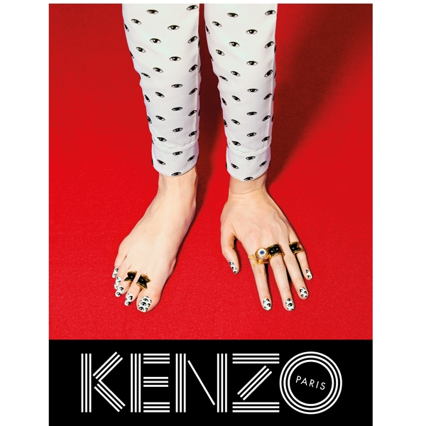 KENZO FW13 Campaign hand feet