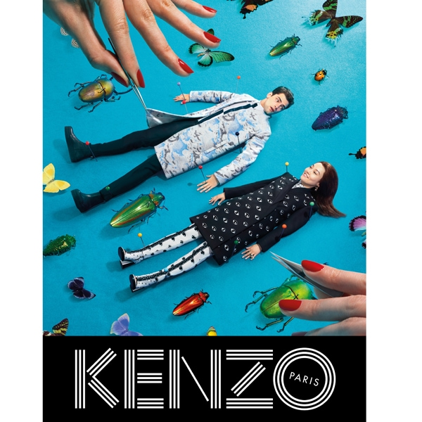 KENZO FW13 Campaign insects single