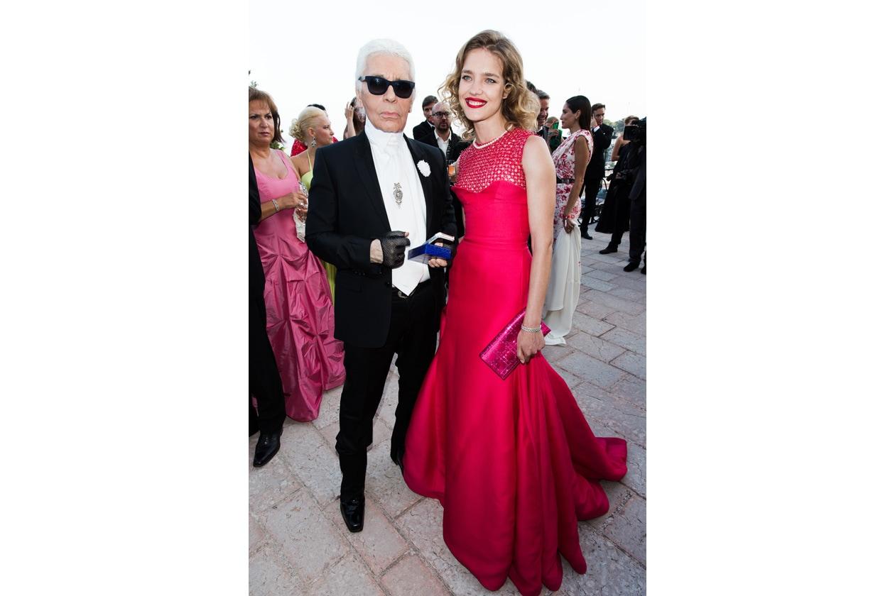 Karl Lagerfeld & Natalia