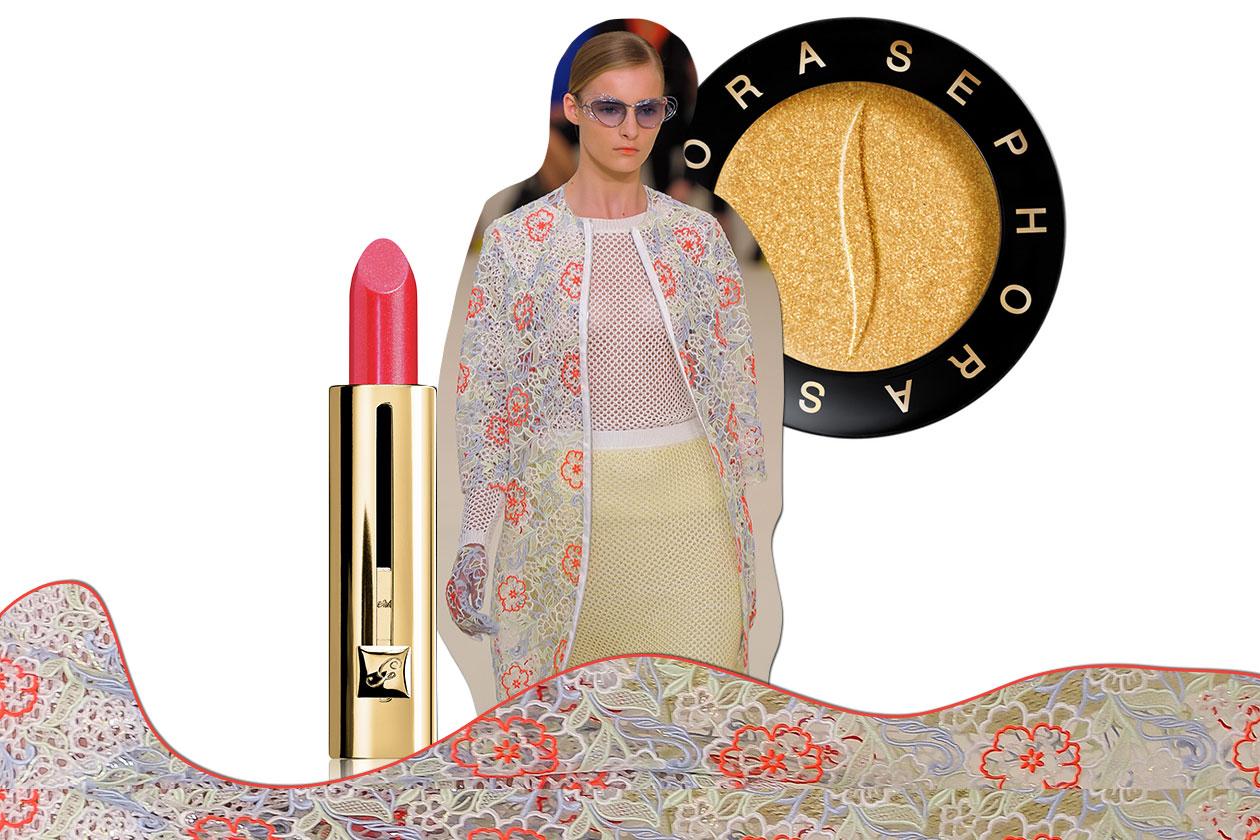 NELLA RETE: il mood anni 60/70 sboccia su capispalla e dress dalle tinte delicate. Il make up si adegua (Erdem – Guerlain –Sephora)