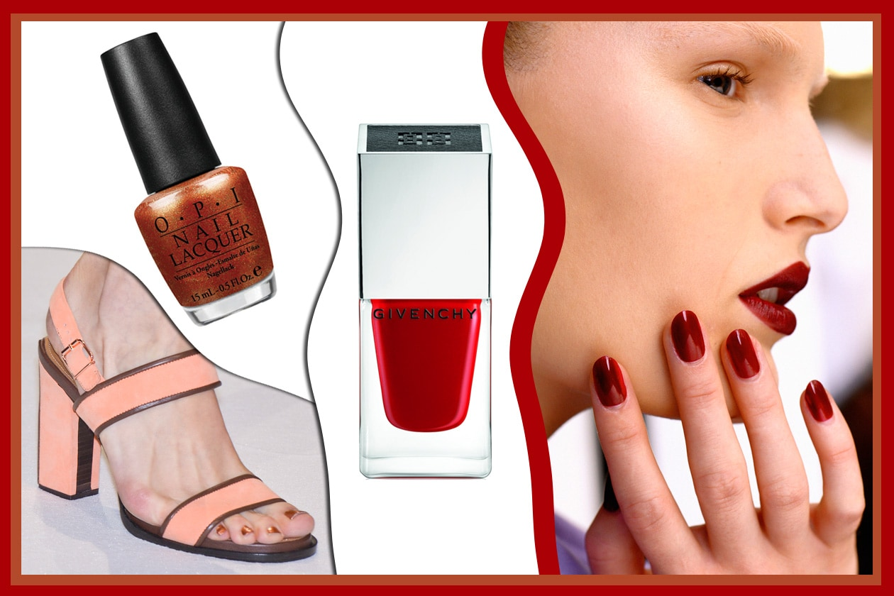 RED PASSION: intramontabile rosso con tutte le sue gradazioni (Givenchy – OPI- Veronique Branquinho – Saint Laurent)