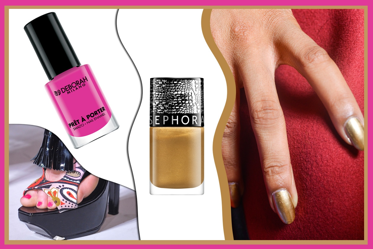 SHOCKING SUMMER: oro&fucsia per chi non vuole passare inosservata (Carlos Miele – PPQ – Sephora – Deborah Milano)