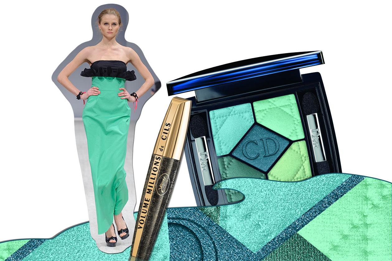 VERDE DI SERA: tra acqua marina e smeraldo c'è un infinito mondo di gradazioni di verde (Elena Burba – Dior 5 – L'Oréal Paris)