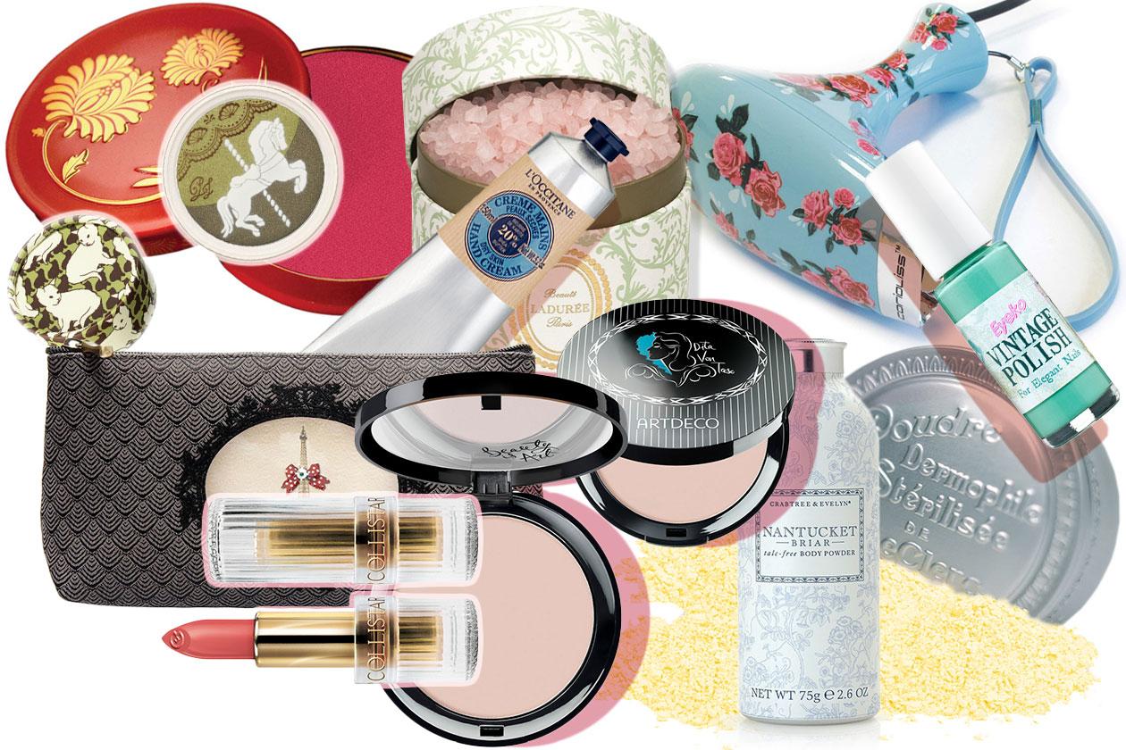 Profumo di vintage nel beauty: dalla cipria T. LeClerq al brand Artdeco passando per Benefit