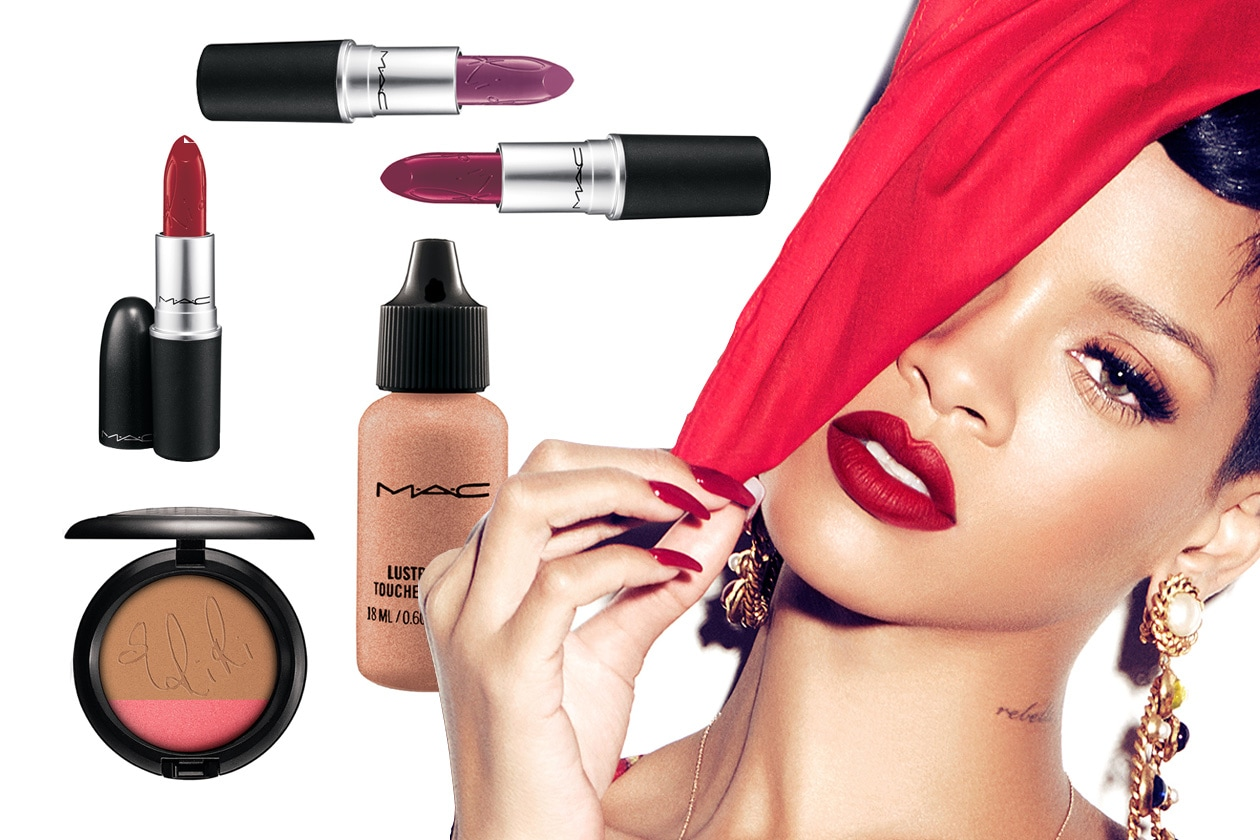 rihanna mac summer makeup