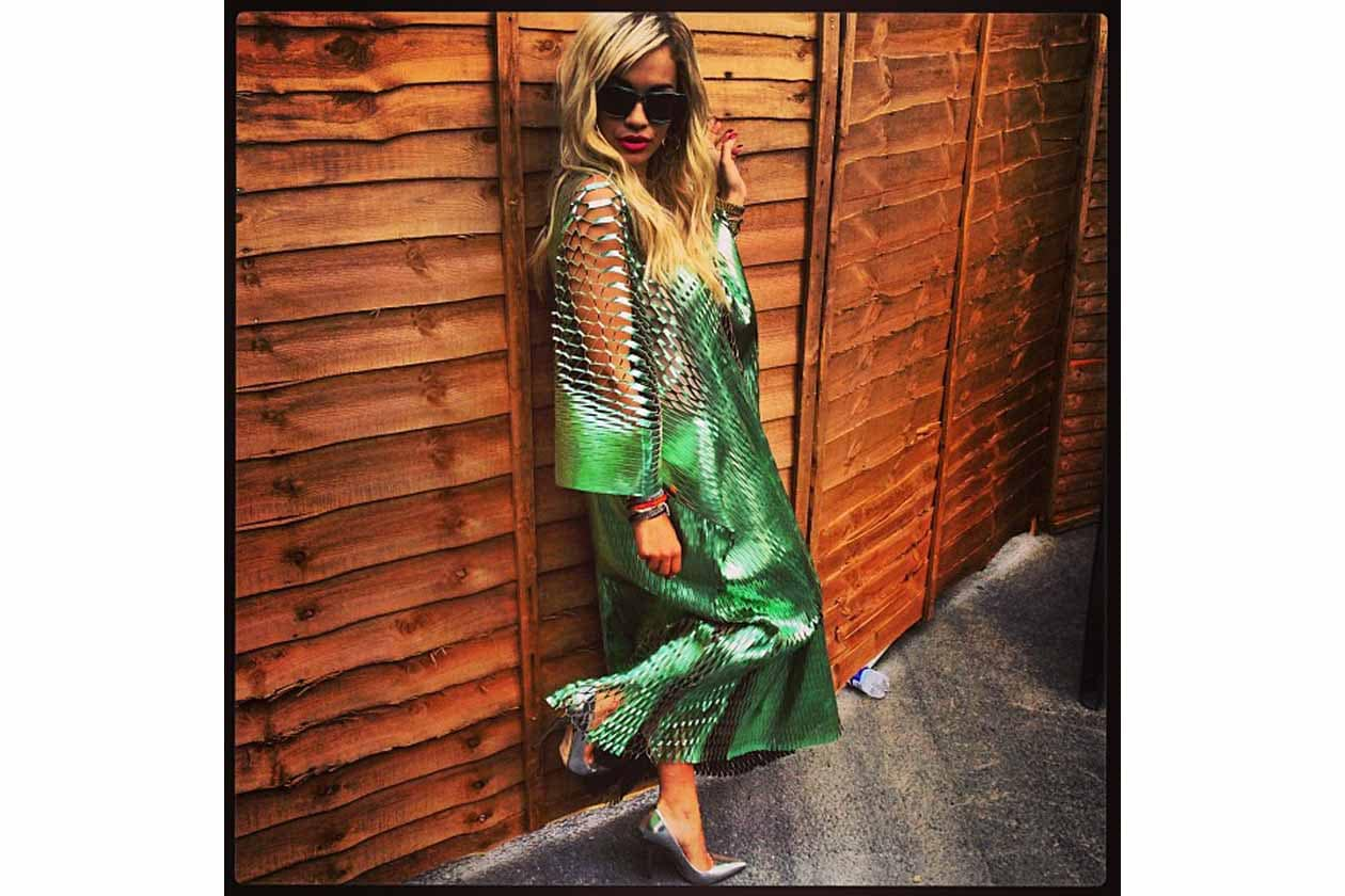 Rita Ora: «I'm in love Vionnet this dress is a master piece (Sono innamorata di quest'abito Vionnet, è un vero capolavoro)»