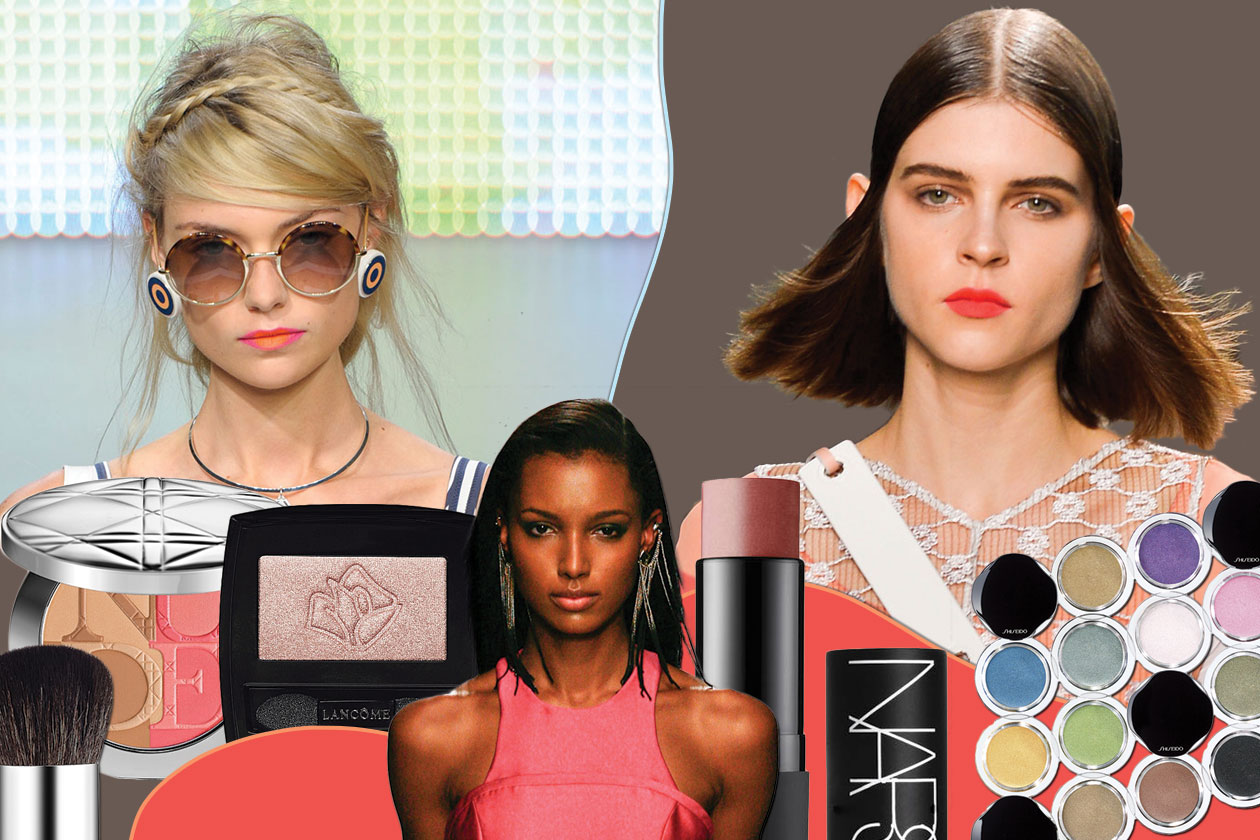 BEAUTY SUMMER MAKE UP cover collage