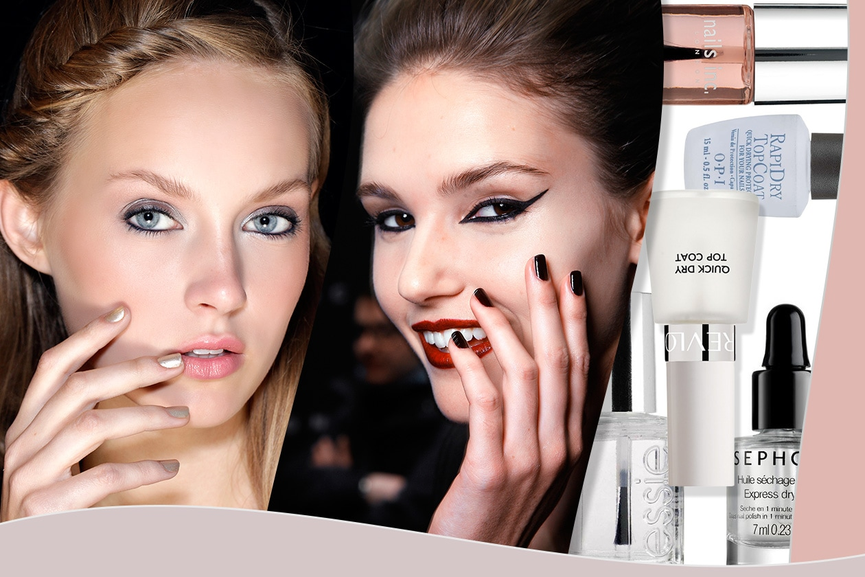 Beauty fast manicure cover collage