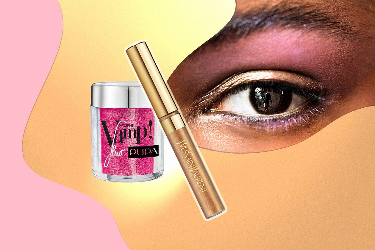 FUCSIA E ORO, EIGHTIES FEVER: i colori degli anni Ottanta che brillano sulla pelle baciata dal sole (Pupa – Yves Saint Laurent – Yeohlee)