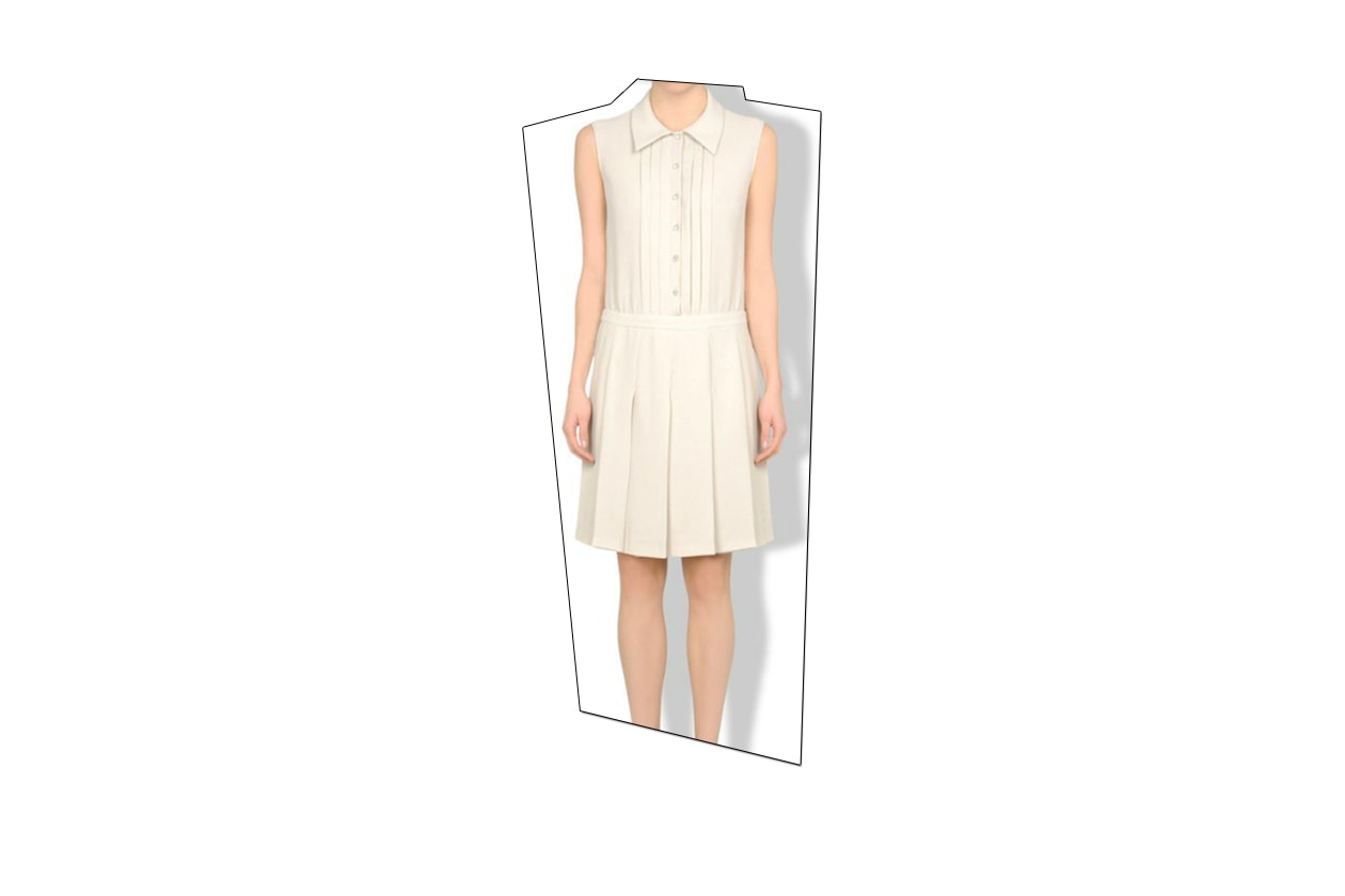 Fashion top list Little White dress MoschinoCC