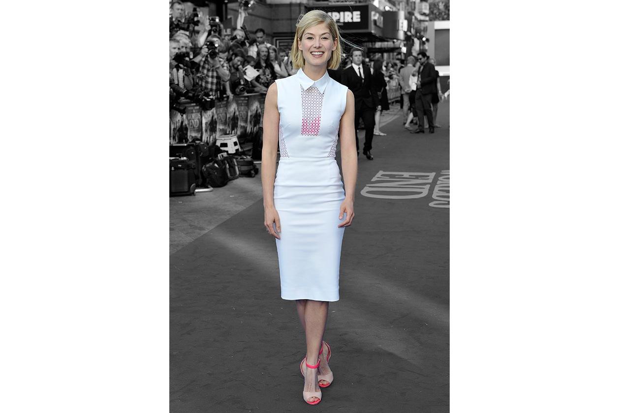 Fashion top list Little White dress Rosamund Pike