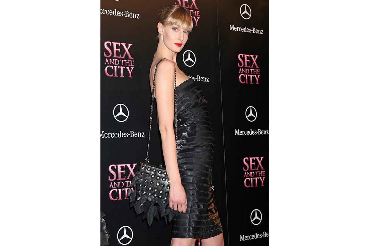 """Frangetta e labbra very red per la premiere di """"Sex And The City – The Movie"""" a Roma (2008)"""