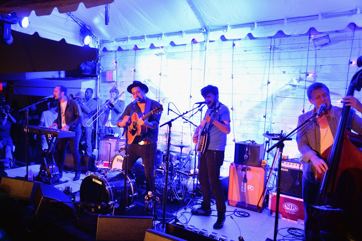 Mumford and sons attend SOHO HOUSE NEW YORK's 10 Year Birthday on the Roof