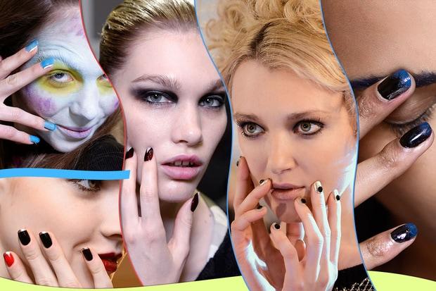 NAIL ART BICOLOR coppia di colori per manicure decisamente stravaganti Corners of a Circle Zang Toi Alexis Mabille Roland Mouret Vivienne Westwood hg temp2 s full l
