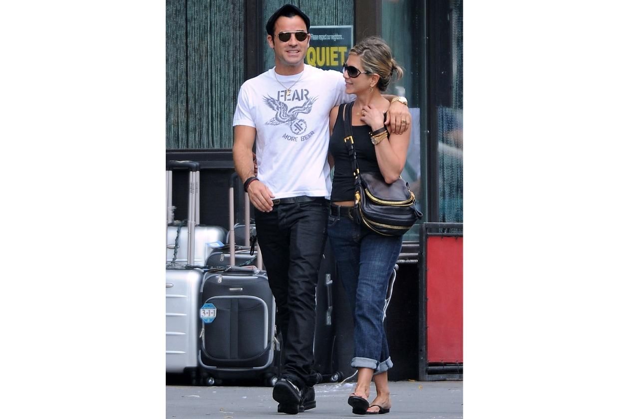 A spasso con il futuro marito Justin Theroux (2012)