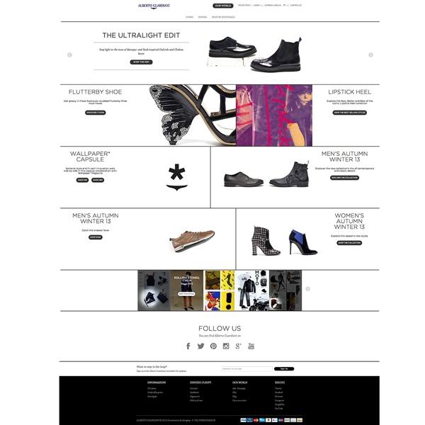 Alberto Guardiani: il nuovo sito e l'e-shop