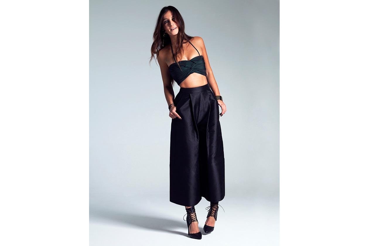 Fashion Style Icon Ilaria Norsa elle magazine italy wearing isa arfen BY JACOPO MOSCHIN