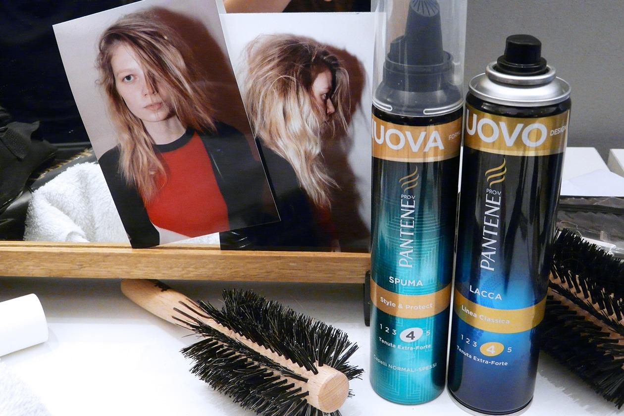 I prodotti Pantene usati per l'hair styling