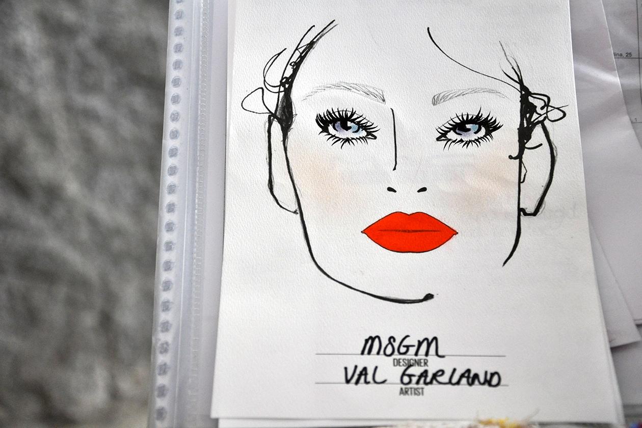 La Face Chart firmata da Val Garland di MAC per MSGM