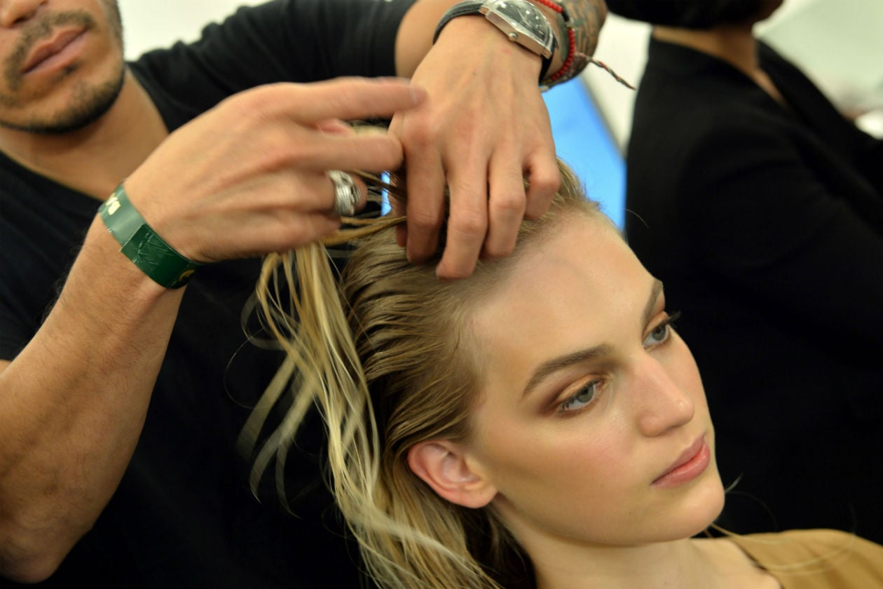 Luigi Murenu ha curato l'hair styling delle modelle di Gucci