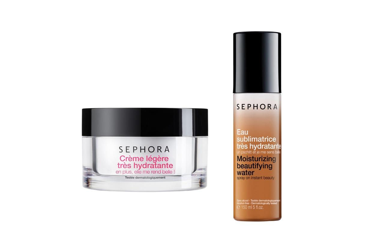 MULTITASKING: Acqua Sublimatrice Ultra Idratante di Sephora e Crema Leggera Ultra-Idratante per un viso splendente