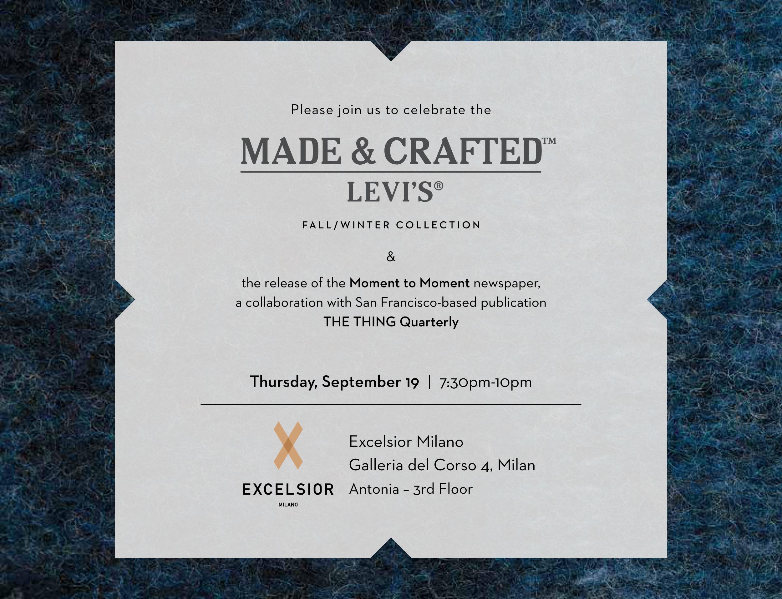 Made & Crafted: la nuova collezione Levi's