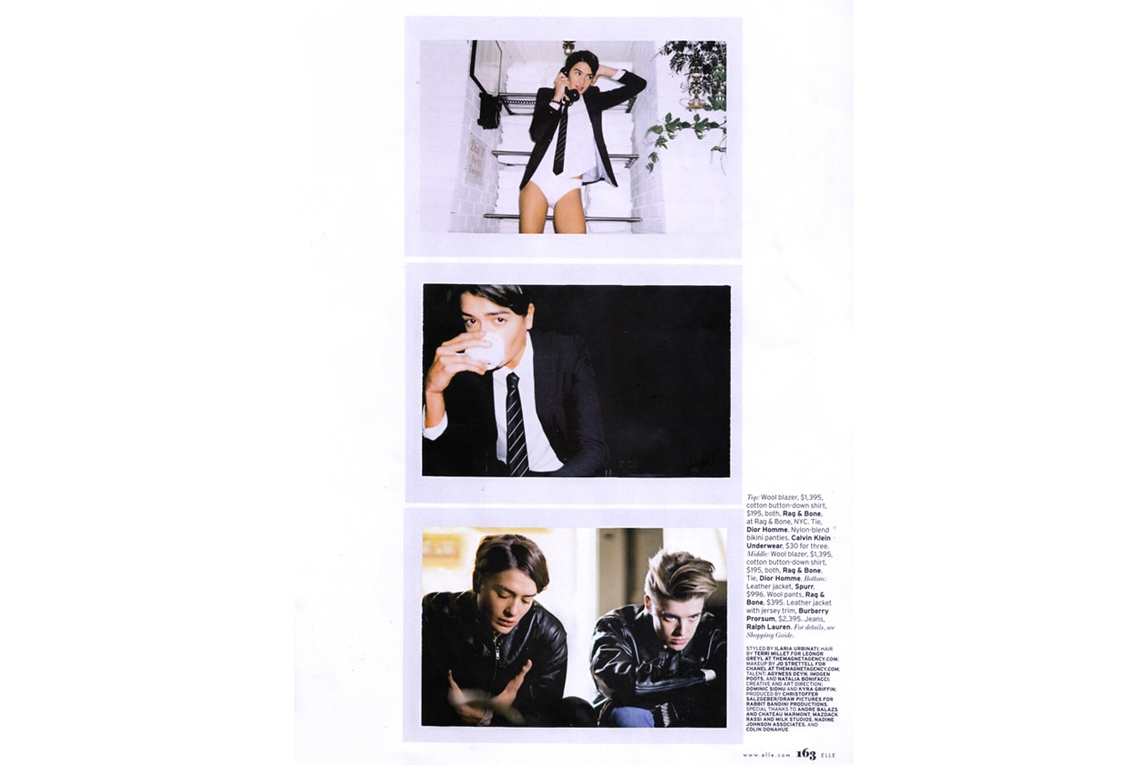 Nei panni di Sal Mineo con Gyness Deyn per Elle US by James Franco