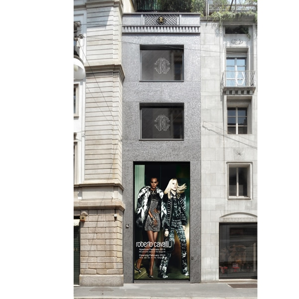 Roberto Cavalli: il nuovo store a Milano