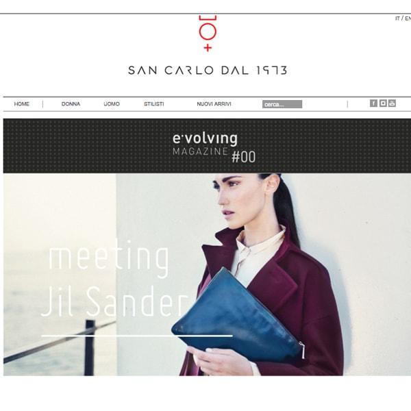 San Carlo dal 1973: new store e sito
