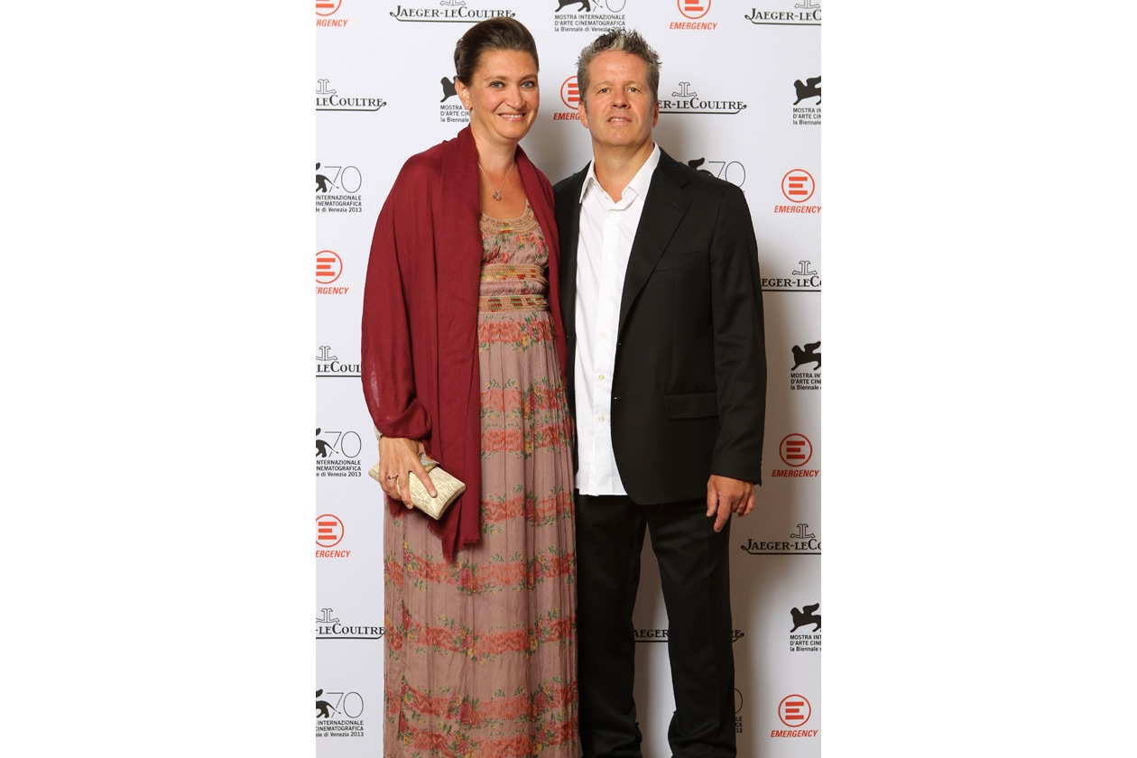 Venice Film Festival 2013 Ernst Knam and wife at the party Jaeger LeCoultre for Emergency It's time to help Sierra Leone ph. pessina (2)