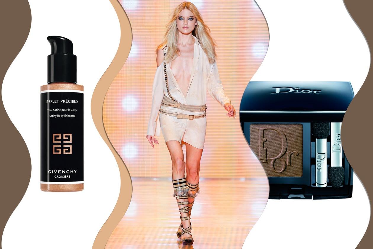 WILD SAND: lacci e cinture dal mood selvaggio avvolgono un corpo super luminoso (Versace – Givenchy – Dior)