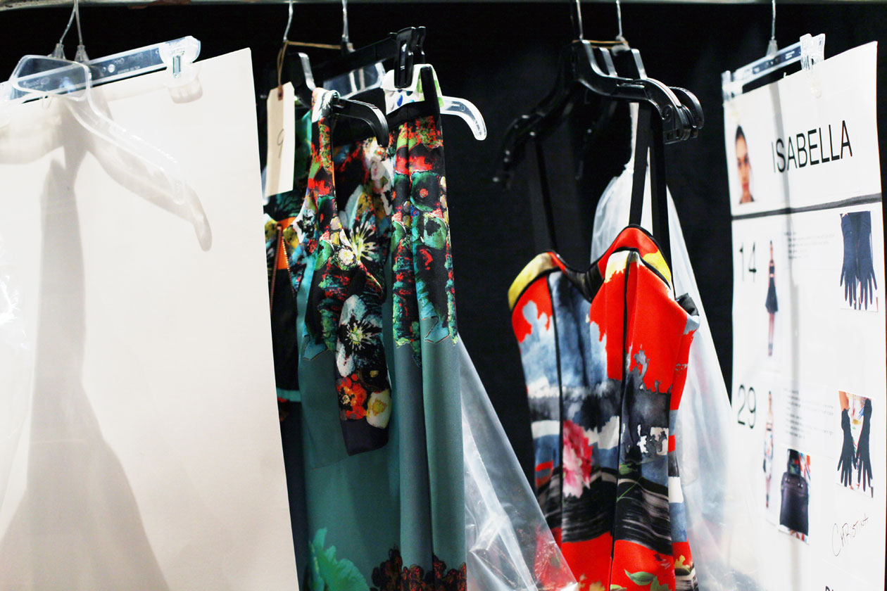 Backstage Milly Spring Summer 2014 clothes