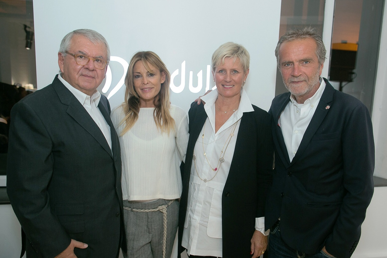Daniel Piette (presidente L Capital)   Manuela Mariotti (direttrice creativa Dondup )   Massimo Berloni (CEO Dondup)