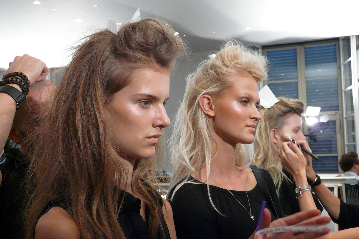 Fausto Puglisi primavera/estate 2014: il backstage beauty&hair