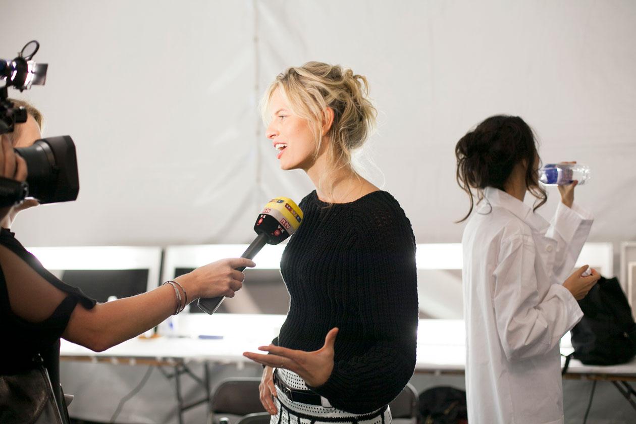 Karolina Kurkova Backstage Michael Kors