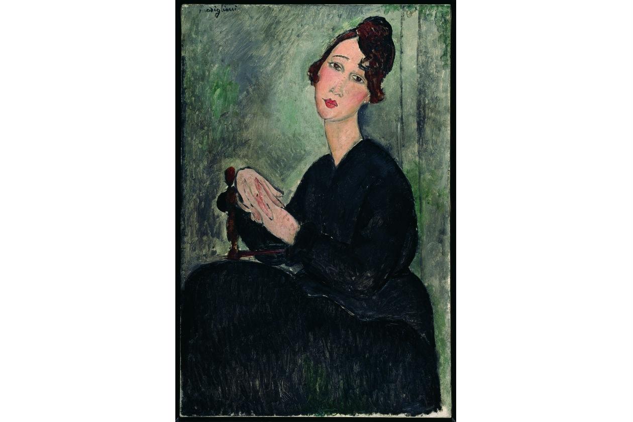 Amedeo Modigliani; il volto del novecento; palazzo reale; centre pompidou; ritratto di Dédie