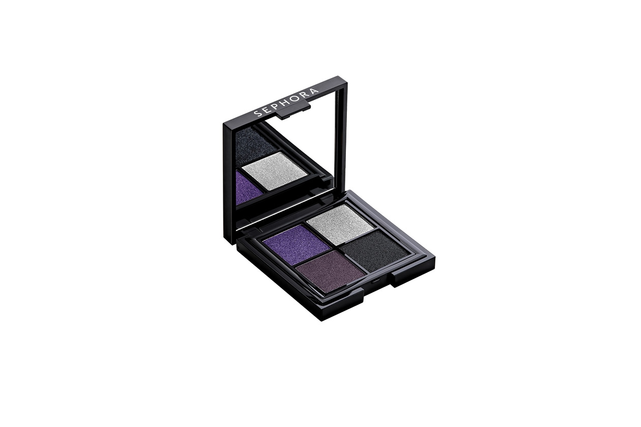 Beauty PRECIOUS MAKE UP Eye graphic 4 colors palette Violet smoky ouvert BD