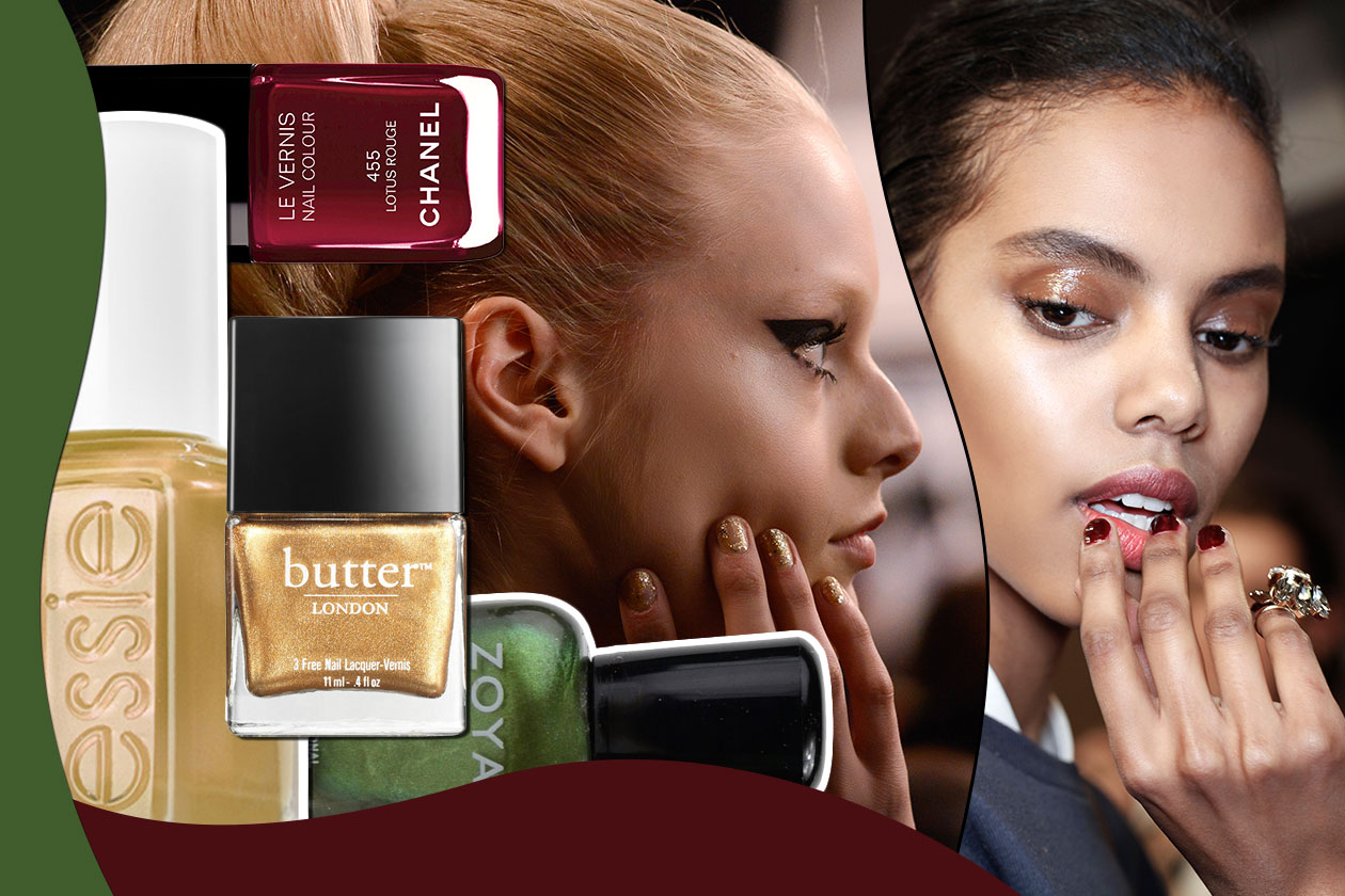 Beauty manicure autunnale cover collage