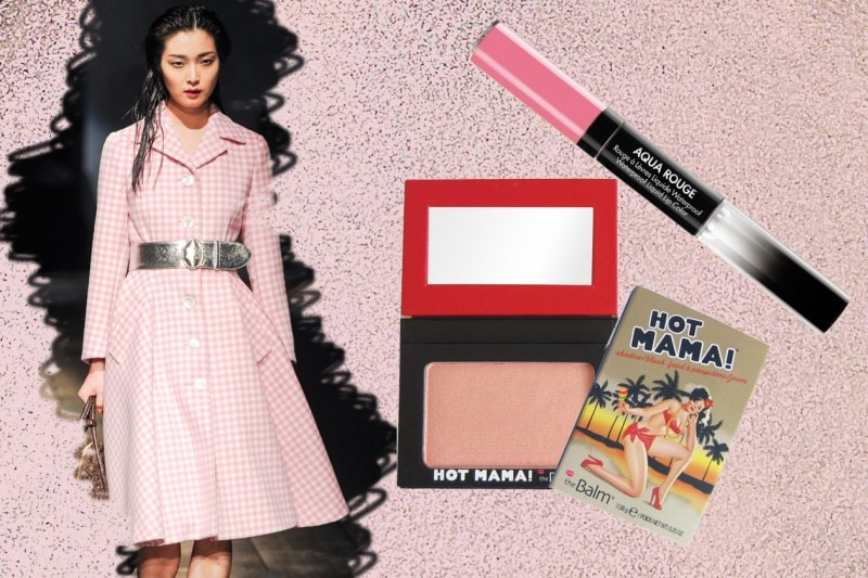 CANDY GIRL: i Fifties sono declinati in un look girly (Prada – Make Up For Ever – The Balm)