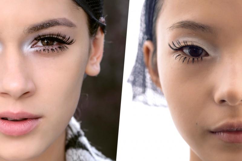 CIGLIA FINTE. Pro: indossatele come unico focus make up. Contro: bisogna fare un po' di pratica (Maxime Simoens)