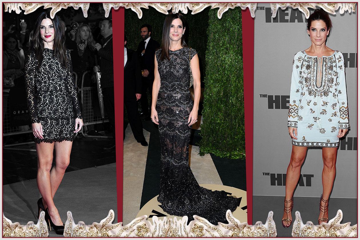 Fashion Style icon Sandra Bullock 00 Cover Collage