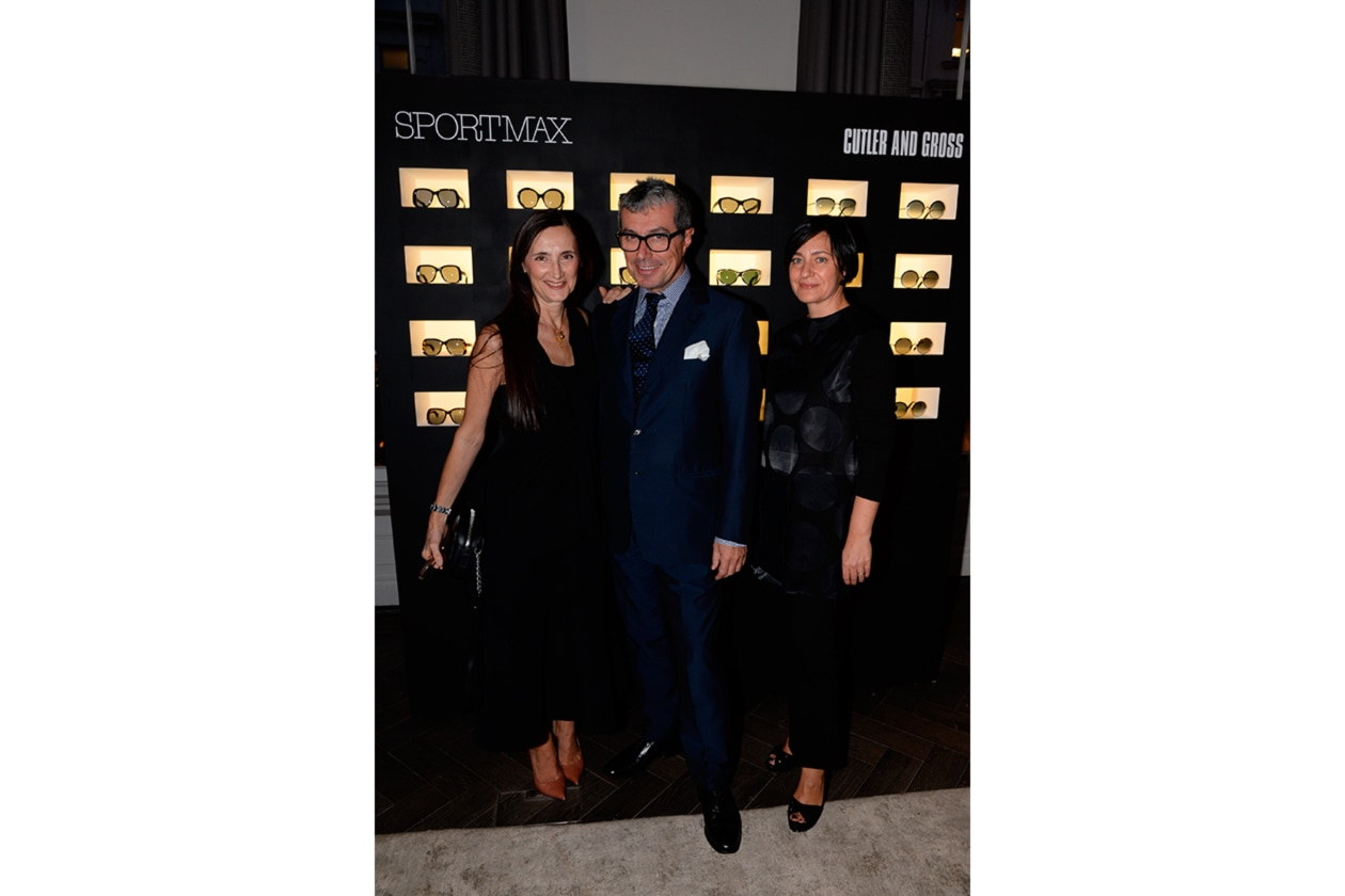 Grazia Malagoli Sportmax Fashion Director, Giorgio Guidotti President Worldwide PR and Communications, Frederica Magnani Sportmax Brand Manager